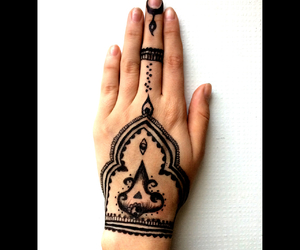 black, henna, and stunning image