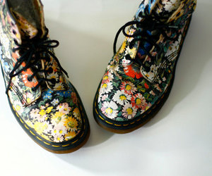 boots, fashion, and floral image