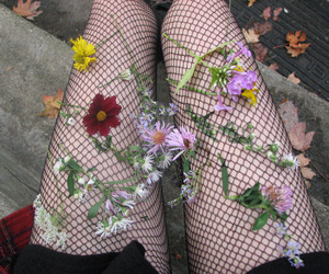 flowers, grunge, and black image