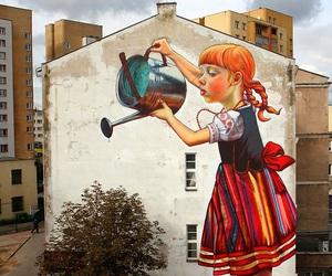 art, tree, and street art image