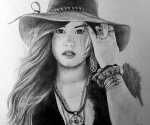 demi lovato, drawing, and girl image