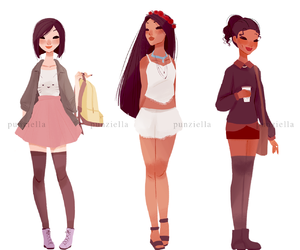 casual, princesses, and disney image