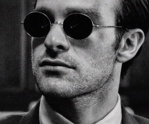 black & white, daredevil, and charlie cox image