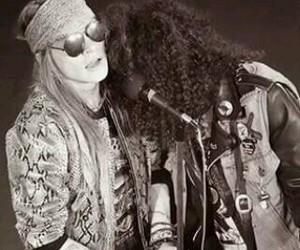 slash, axl rose, and Guns N Roses image