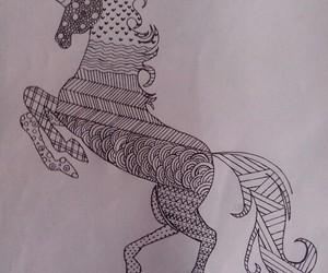 dibujo, draw, and unicórnio image