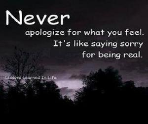 apologize, being real, and saying sorry image