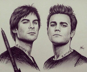 the vampire diaries, damon, and tvd image