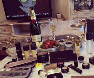 champagne, girl, and luxury image