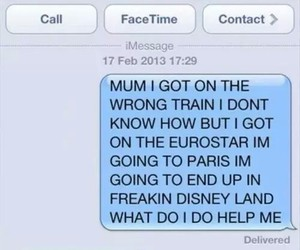 disney land, funny, and message image