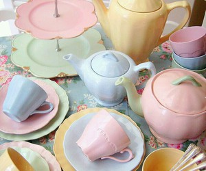 pastel, vintage, and cup image