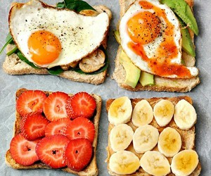 food, healthy, and strawberry image