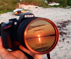 nikon, beach, and camera image