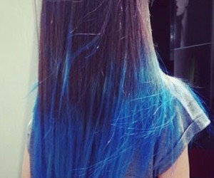 blue hair, colorful, and grunge image