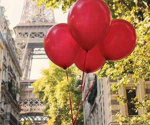 paris, red, and balloons image