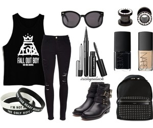 beauty, fall out boy, and fashion image