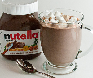 nutella, chocolate, and food image