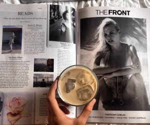 coffee, magazine, and model image