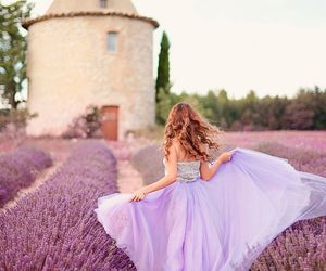 lavender, purple, and dress image
