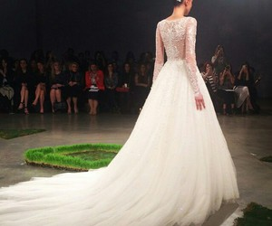 bride, wedding dress, and cool image