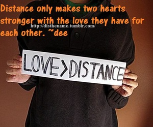 distance, romance, and heart image