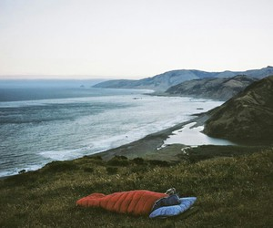 nature, ocean, and camping image