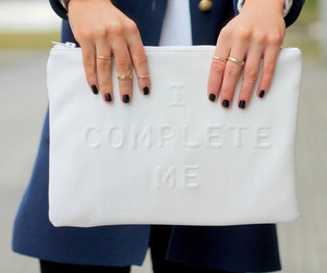 fashion, clutch, and white image