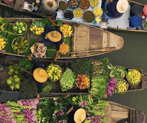 boat, colorful, and food image