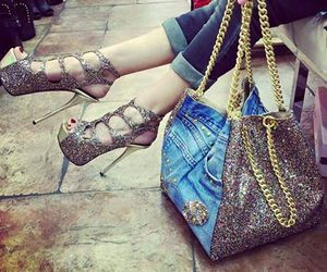 bag, shoes, and zapatos image