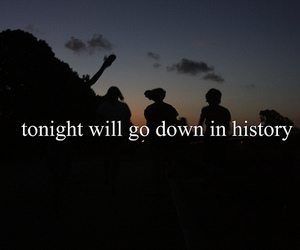 history, night, and text image