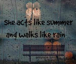 Lyrics, quote, and rain image