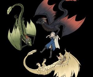 game of thrones, drogon, and daenerys targaryen image
