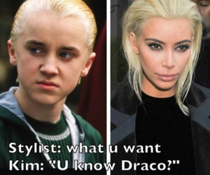 funny, kim kardashian, and blonde image