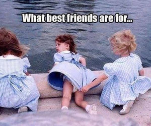 best friends, funny, and kid image
