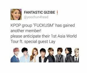 exo, kris, and kpop funny image