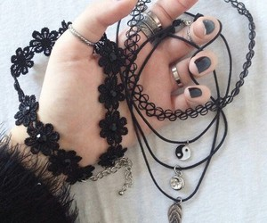 black, grunge, and choker image