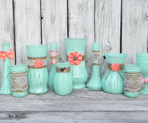 decoration, mint, and vase image