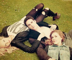 candice accola, michael trevino, and the vampire diaries image