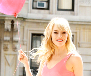 emma stone, pink, and actress image