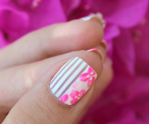 flowers, girly, and nails image
