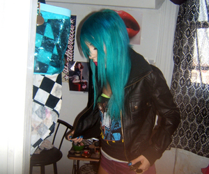 blue hair, hair, and raquel reed image