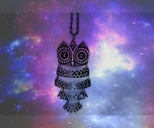 galaxy, inspiration, and owl image