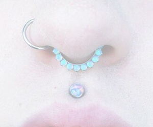 girl, mouth, and piercing image