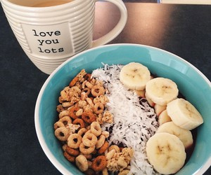 food, banana, and cereal image