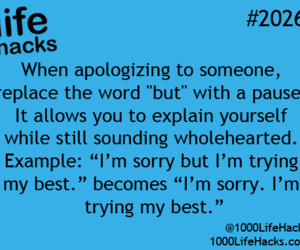 apology, life hacks, and Best image