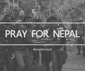 nepal, prayfornepal, and pray image