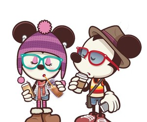 animated, hipster, and mickey mouse image
