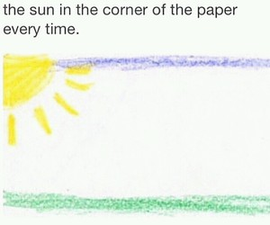 sun, drawing, and funny image