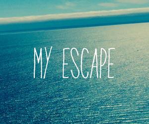 sea, escape, and summer image