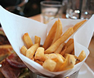 food, delicious, and fries image