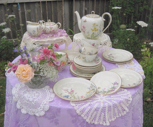 pastel, purple, and tea image